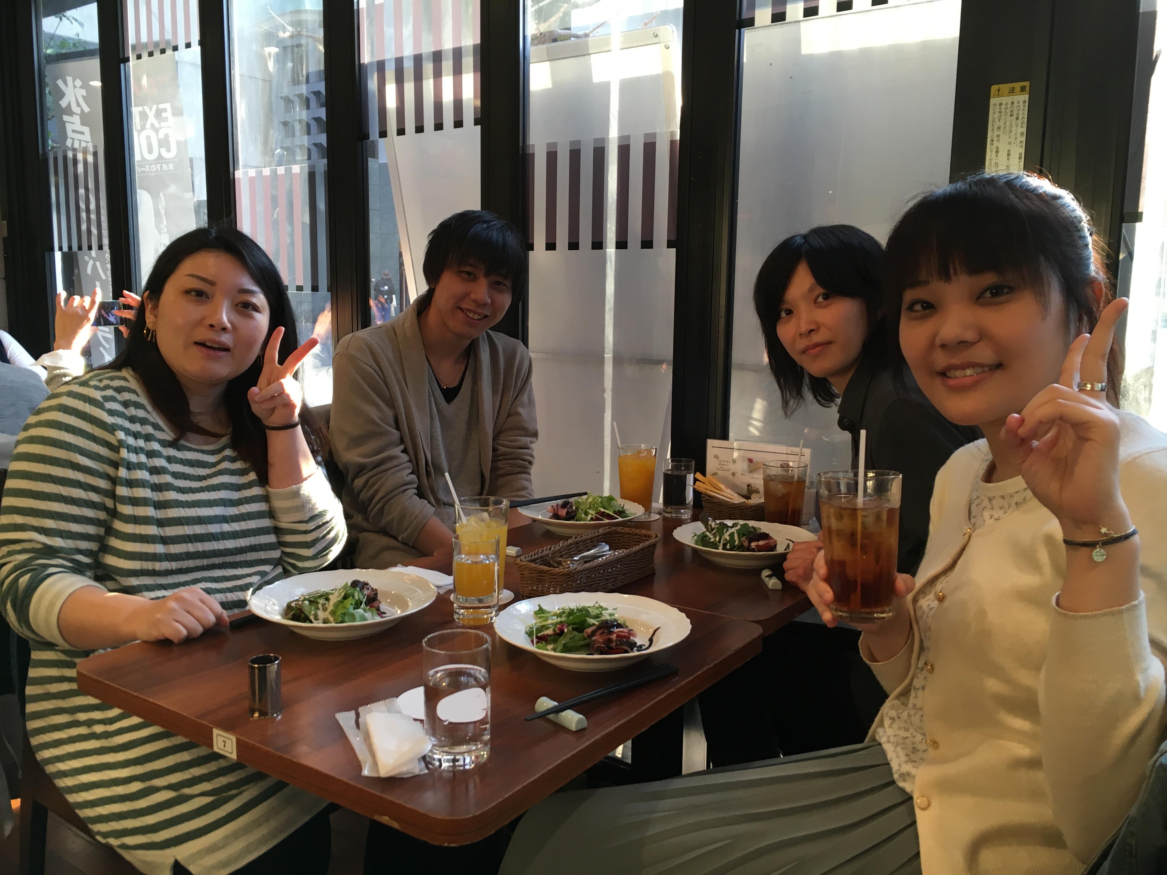 みどりちゃん、横江くん、姫ちゃん、涼子ちゃん
