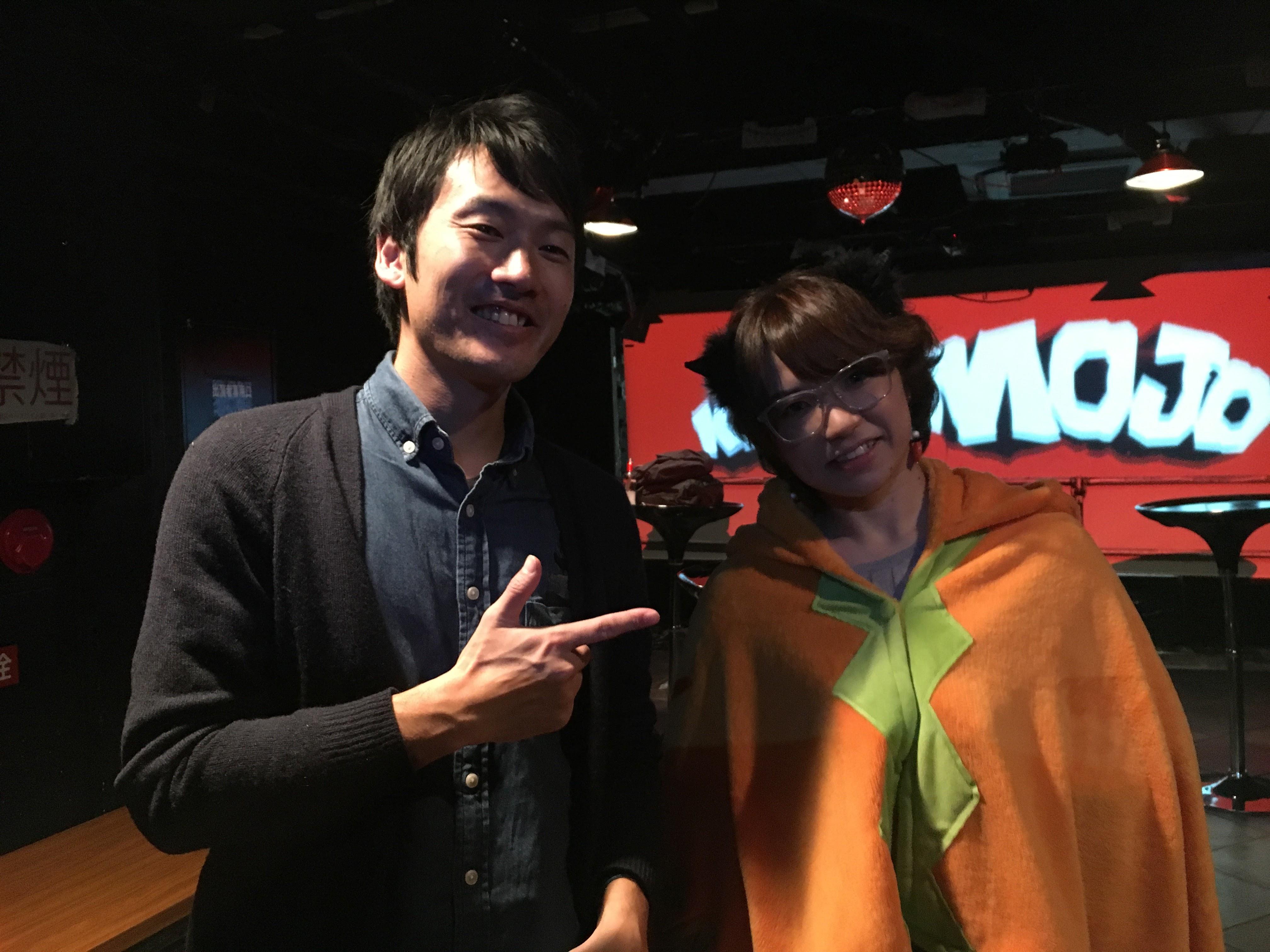 りさえもんが働いている楽器店でも講師をされてる、ドラムの藤井先生。応援しにきて下さいました。