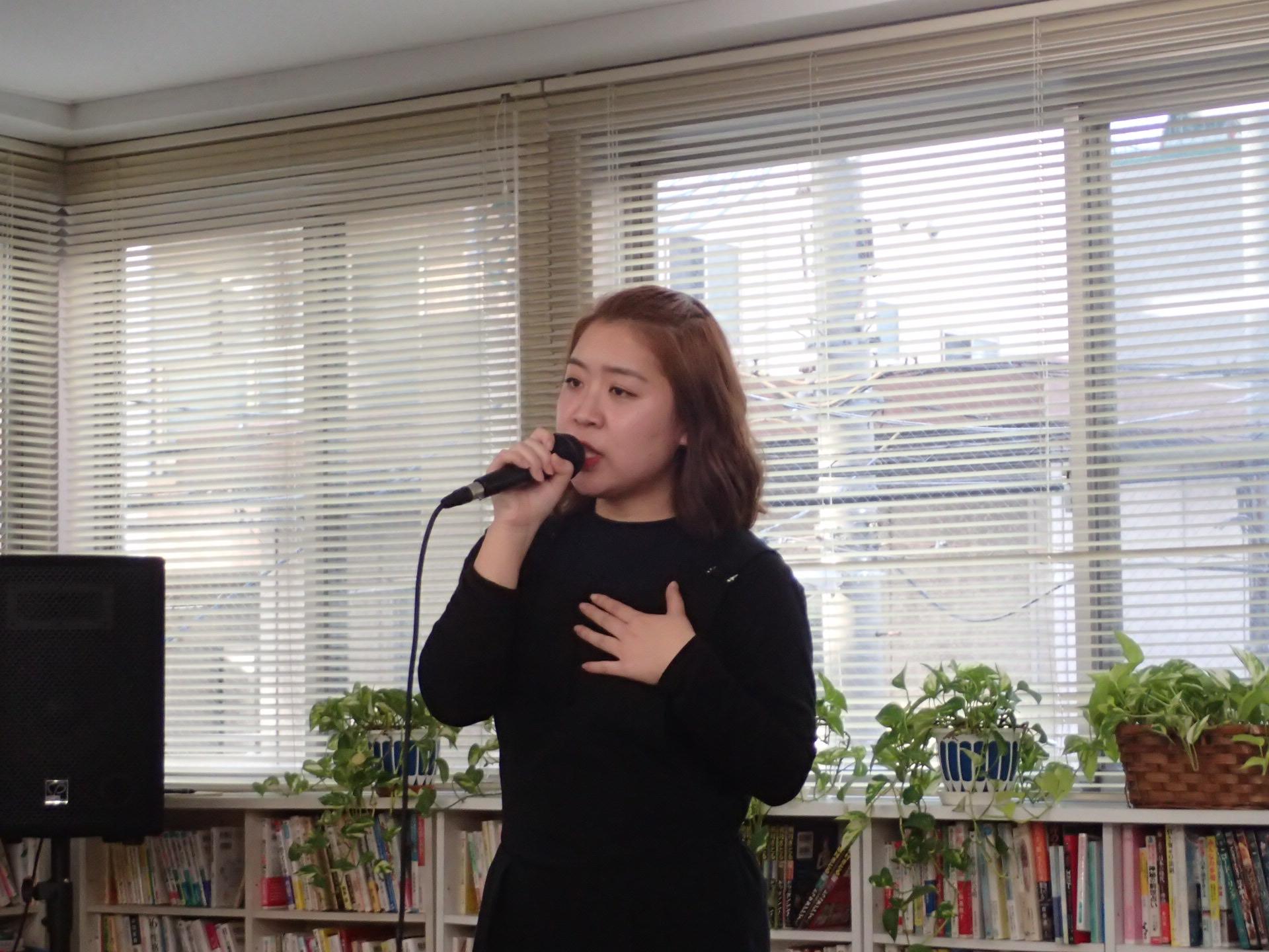 心込めて歌ったり、、だいぶ自由に歌えるようになったよね〜〜〜♡